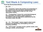 yard waste composting laws