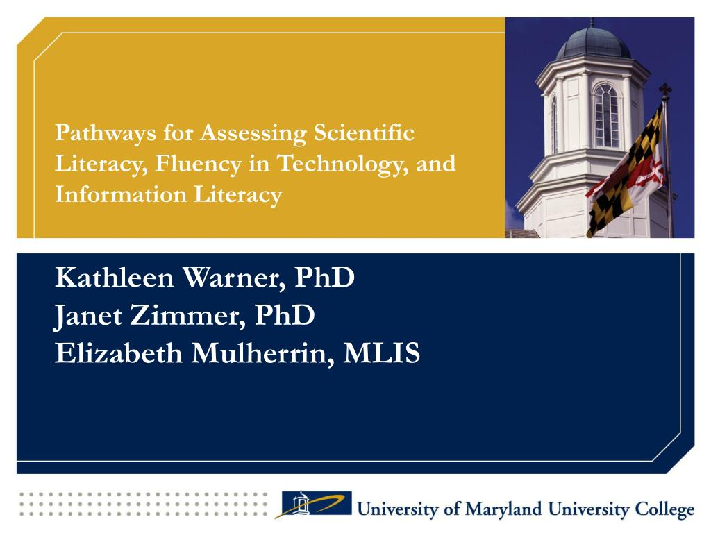 pathways for assessing scientific literacy fluency in technology and information literacy l.