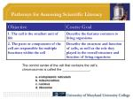 pathways for assessing scientific literacy