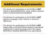 additional requirements37