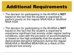 additional requirements38