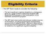 eligibility criteria19