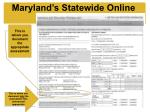 maryland s statewide online