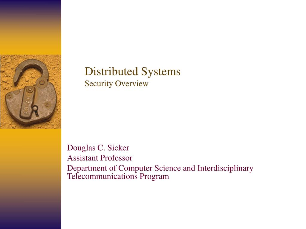 distributed systems security overview l.