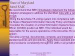 state of maryland hired saic