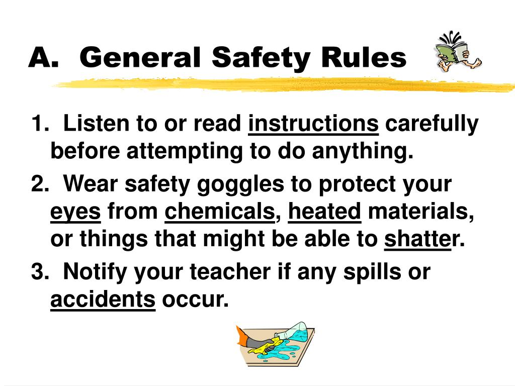 a general safety rules l.
