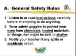 a general safety rules