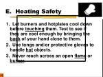 e heating safety