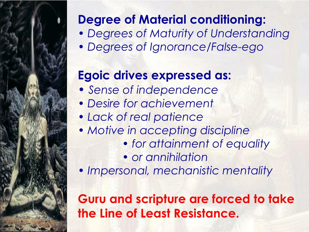 Degree of Material conditioning: