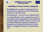 availability of water resources continued