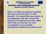 d rawbacks of the existing legal framework upstream countries concerns