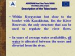 description of the talas basin32