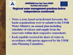 regional water management practices before independence continued