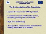 the draft regulations of the commission