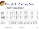 example 1 checking data