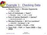 example 1 checking data7