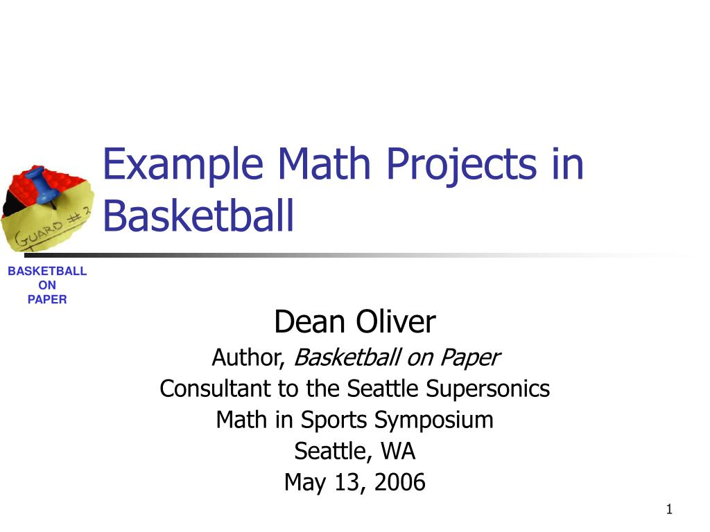 example math projects in basketball l.