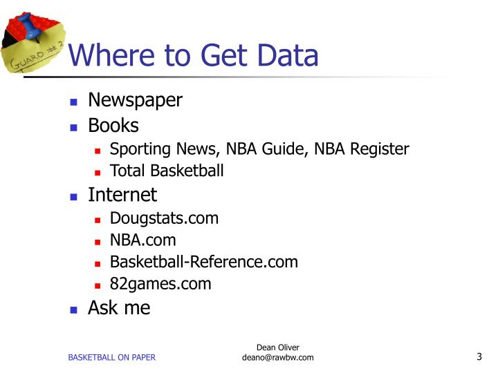 Where to get data