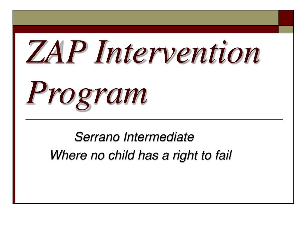 zap intervention program l.
