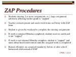 zap procedures