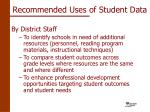 recommended uses of student data18