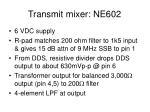transmit mixer ne602