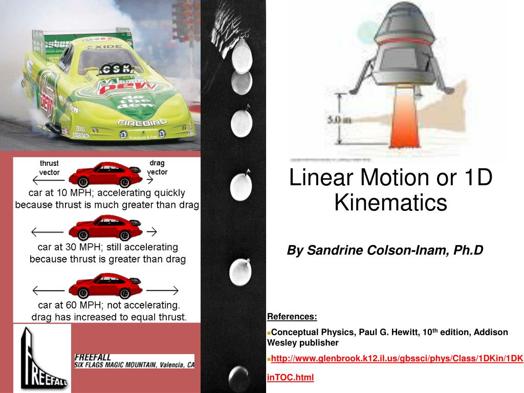 linear motion or 1d kinematics l.