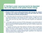 ii viet nam s water resources tend to be degraded due to the impacts of the global climate change9