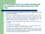 iv the measures for the suitable development and utilization of the water resources in viet nam