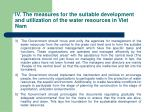 iv the measures for the suitable development and utilization of the water resources in viet nam25