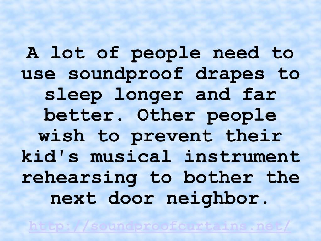 http://soundproofcurtains.net/