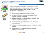 campaign i rapid action project charters asset recovery process