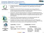 campaign i rapid action project charters enterprise wide policy support team cont d