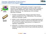 campaign i rapid action project charters enterprise wide policy support team