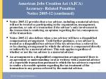 american jobs creation act ajca accuracy related penalties notice 2005 12 continued55