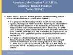 american jobs creation act ajca accuracy related penalties notice 2005 12