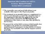 american jobs creation act ajca accuracy related penalties section 6662a continued49