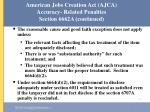 american jobs creation act ajca accuracy related penalties section 6662a continued50