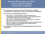 american jobs creation act ajca accuracy related penalties section 6662a continued51