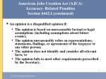 american jobs creation act ajca accuracy related penalties section 6662a continued52