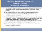 american jobs creation act ajca disclosure penalties section 6707a continued