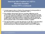 american jobs creation act ajca disclosure penalties section 6707a continued44