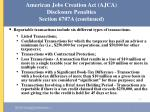 american jobs creation act ajca disclosure penalties section 6707a continued45