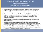 american jobs creation act ajca disclosure penalties section 6707a continued46