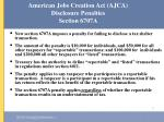 american jobs creation act ajca disclosure penalties section 6707a