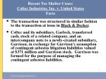 recent tax shelter cases coltec industries inc v united states facts