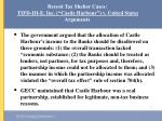 recent tax shelter cases tifd iii e inc castle harbour v united states arguments