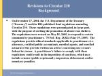 revisions to circular 230 background