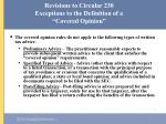 revisions to circular 230 exceptions to the definition of a covered opinion