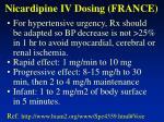 nicardipine iv dosing france